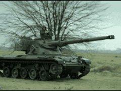 Стрельба по тарелкам из танка