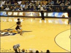 Пролез через баскетбольную корзину