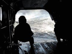 Прибытие в вертолёт
