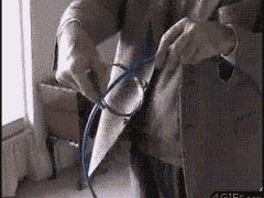Интересная затея с металлическими кольцами