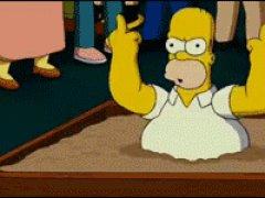 Гомер убегает от толпы