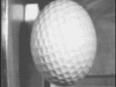Деформация мяча в замедленной съемке
