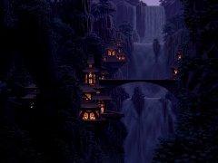 Расслабляющый 8-ми битный водопад
