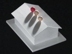 Иллюзия с бумажным домиком