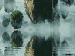 Воздушные камни над водой