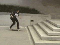 Красивый трюк на скейте