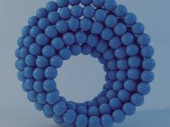 Голубые шарики