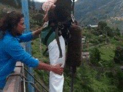 Передумал прыгать